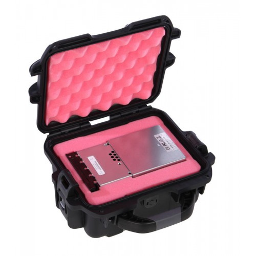 CRU DCP DX115 DC with MoveDock - 1 Capacity Waterproof Turtle Case full