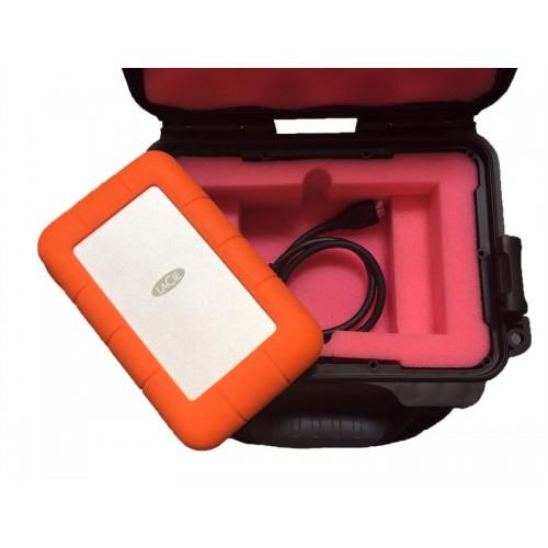 G-DRIVE ev RaW & LaCie Rugged - 1 Capacity Waterproof Turtle case full