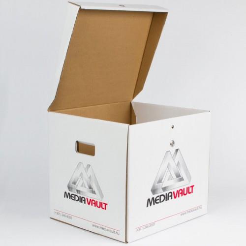 LocPaperBox document & file storage box MediaVault open