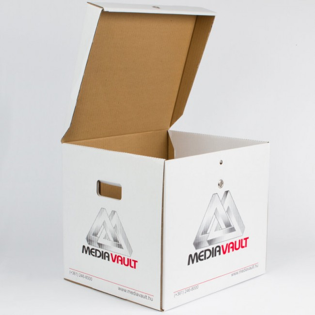 LocPaperBox document & file storage box MediaVault open