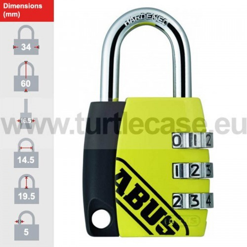 155/30 Yellow ABUS Padlock