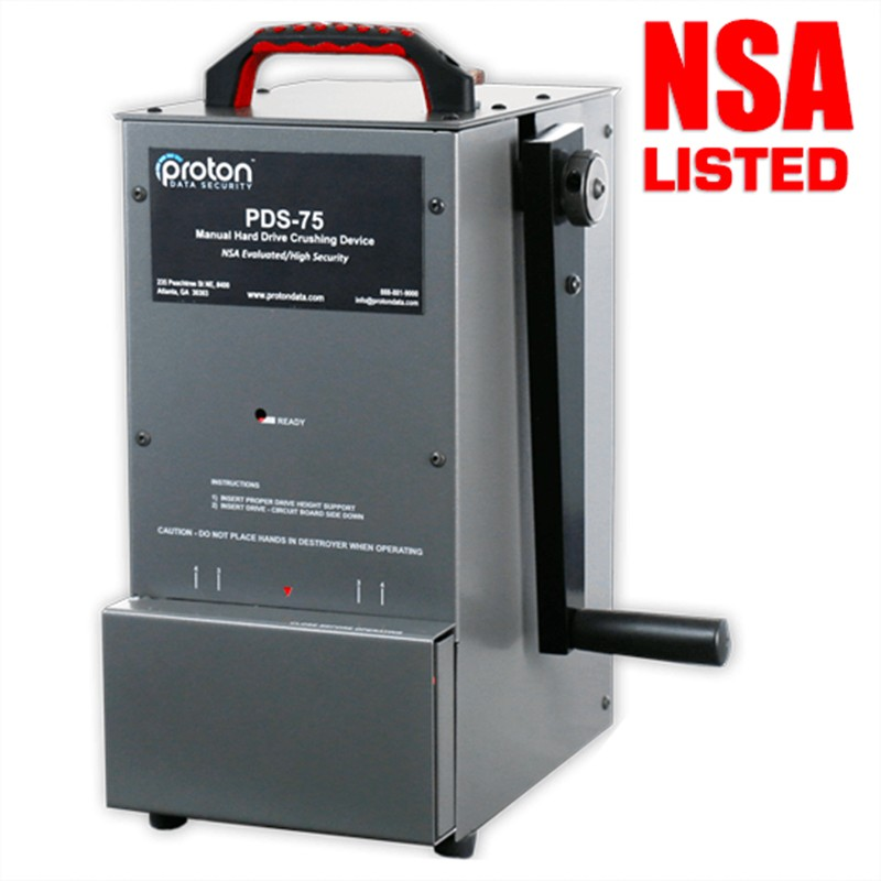 PDS-75 Hard Drive HDD Destroyer Proton NSA