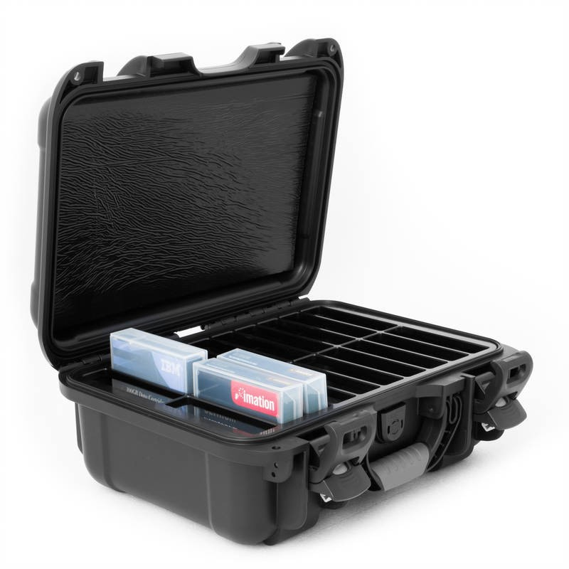 LTO - 20 Capacity with Jewel Waterproof TeraTurtle Turtle Case full