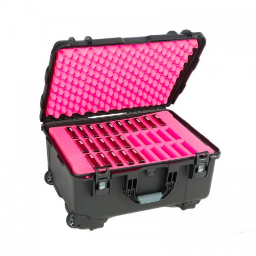 "3.5"" Hard Drive HDD - 30 Capacity Long Slots Wheeled Waterproof Turtle Case full"