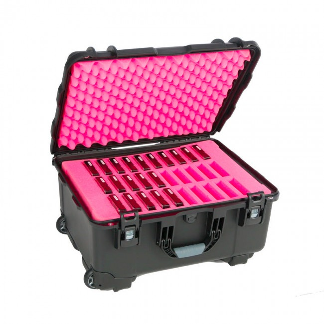 "3.5"" Hard Drive HDD - 30 Capacity Long Slots Wheeled Waterproof Turtle Case full"