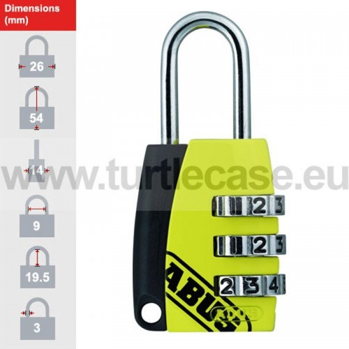 155/20 Yellow ABUS Padlock