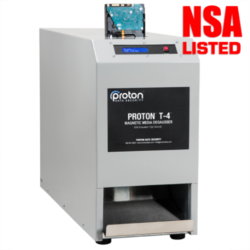 T-4 LTO & Hard Drive HDD Degausser Proton nsa listed