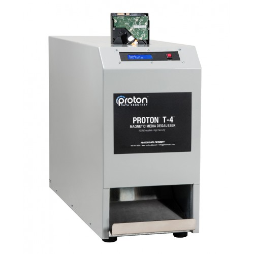 T-4 LTO & Hard Drive HDD Degausser Proton