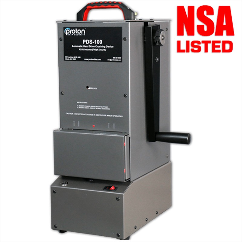 PDS-100 Hard Drive HDD Crusher Proton NSA